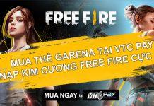 Nạp kim cương Free Fire giá rẻ tại VTC Pay