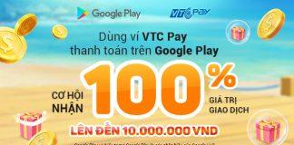 thanh toán Google bằng ví VTC Pay