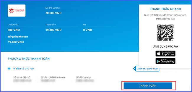 Nạp thẻ liên quân Mobile - hướng dẫn mua thẻ Garena trên website