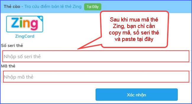 huong dan nap the zing speed mobile tren website