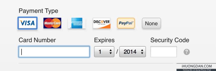 cách thanh toán trên appstore