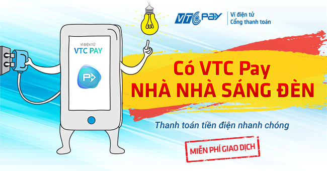 thanh toan tien dien online vtc pay