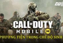 Các phương tiện trong Call of Duty Battle Royale