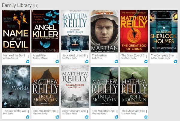 Thư viện gia đình Google Play Sách