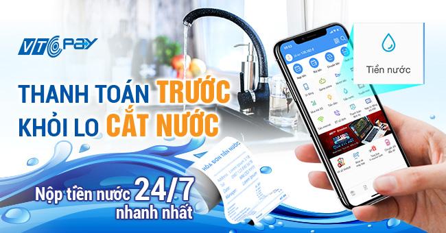 Thanh toán tiền nước Chợ Lớn online tại ví VTC Pay