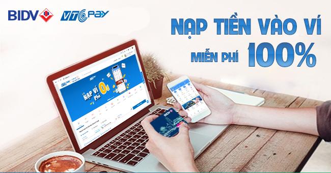 Nạp tiền ví điện tử từ BIDV Smart Banking