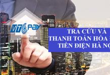 tra cứu và thanh toán hóa đơn tiền điện Hà Nội