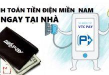 thanh toán hóa đơn tiền điện miền Nam